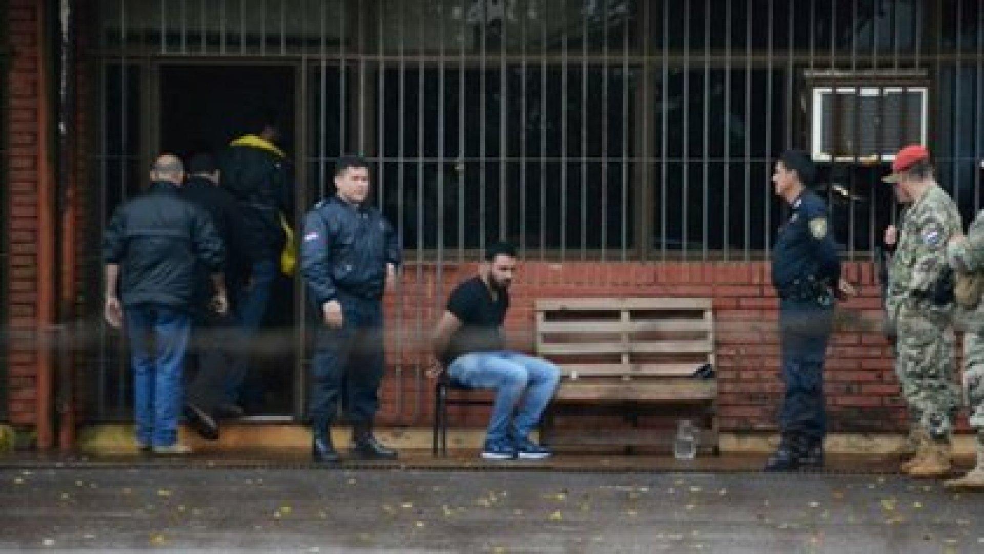 Ali Issa Chamas tras su detención en Paraguay