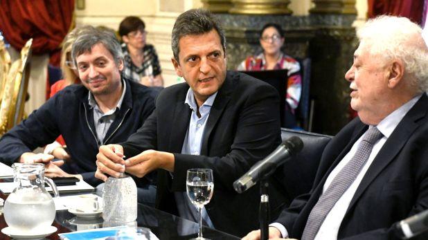 Máximo Kirchner, Segio Massa, Ginés González García