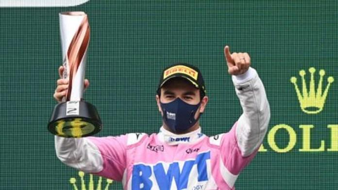 Checo Pérez sumó su noveno podio en el Gran Premio de Turquía, al concluir su carrera en el segundo lugar (Foto: Reuters/Ozan Kose)