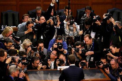 Zuckerberg en una audiencia ante el Congreso de EEUU. Foto: Reuters