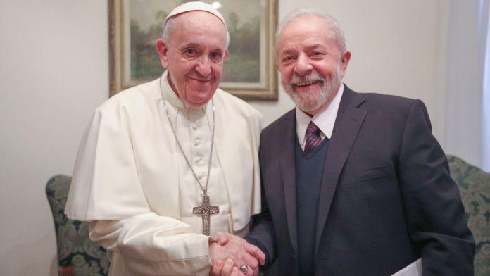 El Papa y Lula estuvieron reunidos durante una hora