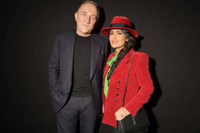 Salma Hayek poses with her husband, mogul Francois-Henri Pinault (Photo: Shutterstock)
