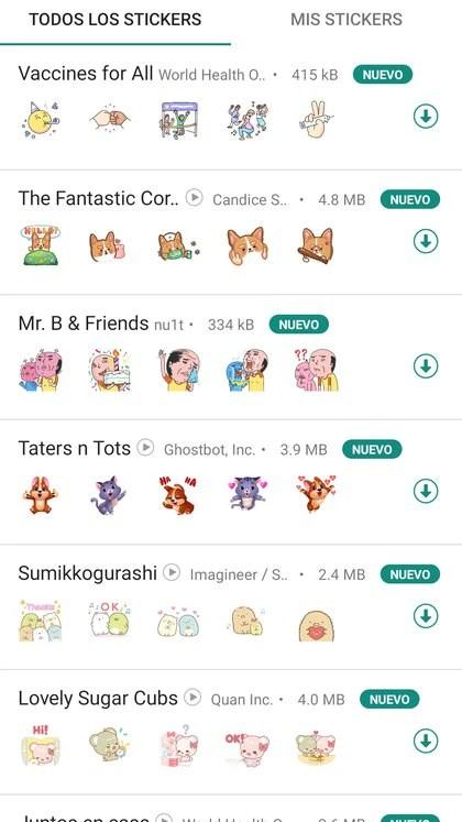 Se sumó un nuevo pack de stickers en WhatsApp