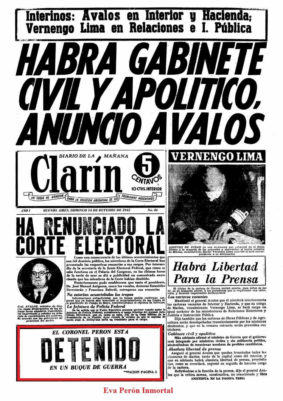 Juan Domingo Peron-17 octubre 1945