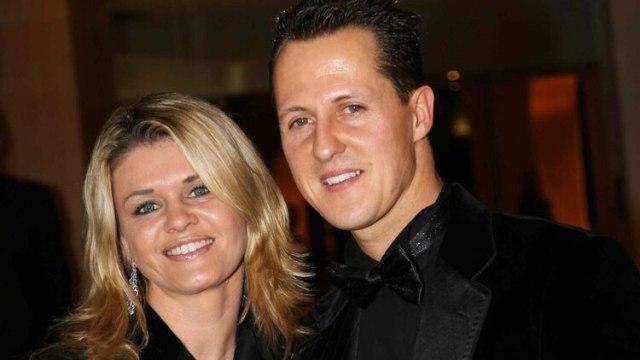 Michael Schumacher junto a su esposa, Corina