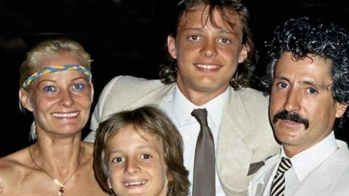 Luis Miguel y su familia, en tiempos felices