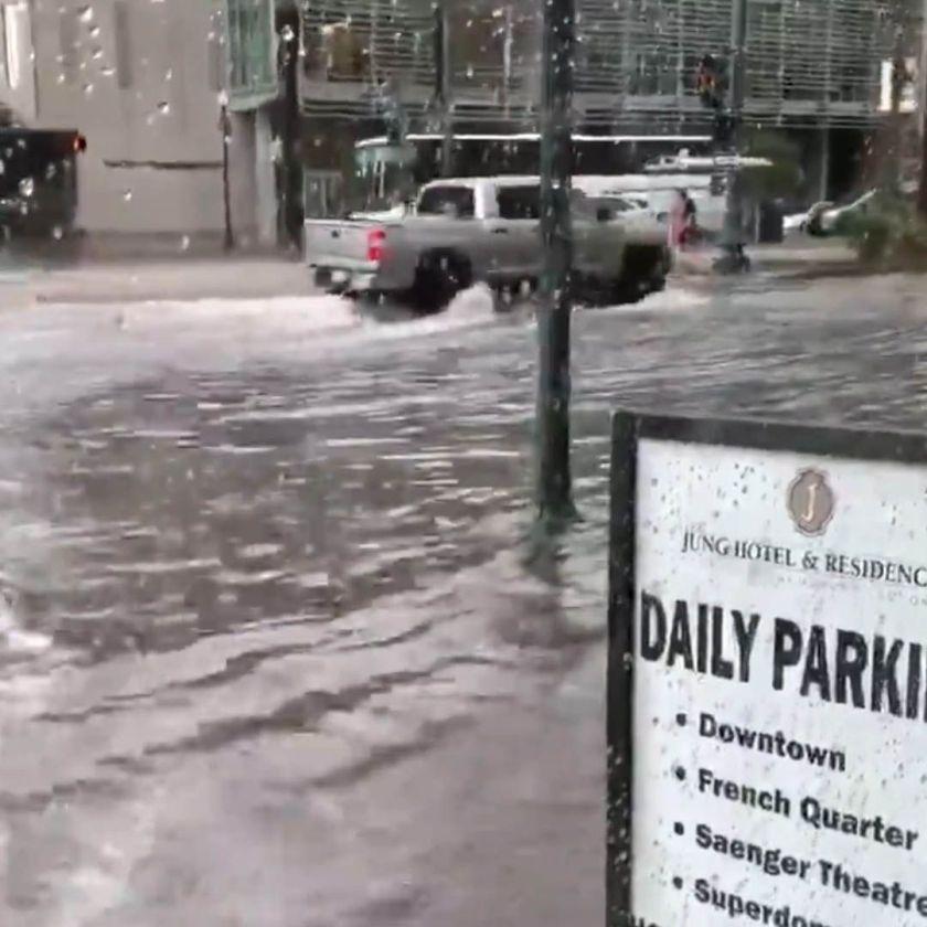 """Nueva Orleans se inundó ante amenaza de """"Barry"""" (Foto: captura de pantalla)"""