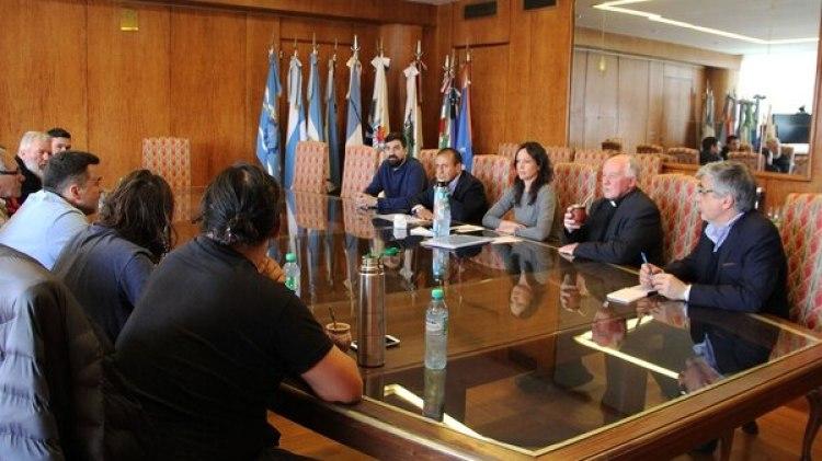 La ministra de Desarrollo Social, Carolina Stanley,durante una reunión con las organizaciones sociales