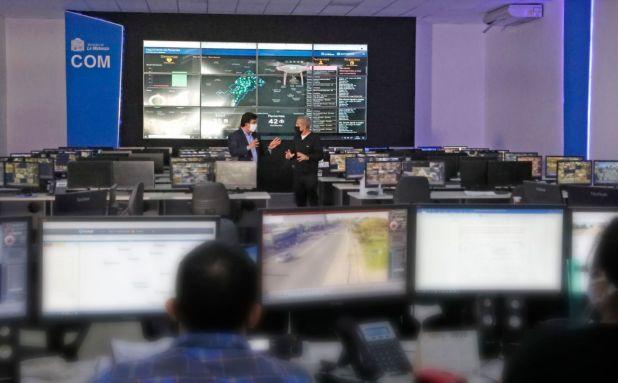 El Centro de Operaciones Municipal (COM) de La Matanza.