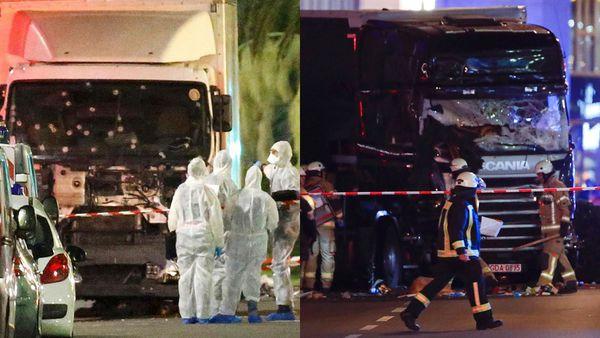 Los camiones que se usaron para atacar en Niza y en Berlín