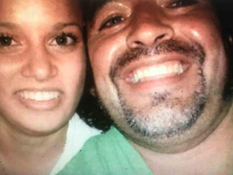 Diego Maradona estuvo en pareja con la cubana Adonay Fruto (Foto: revista Interviú)
