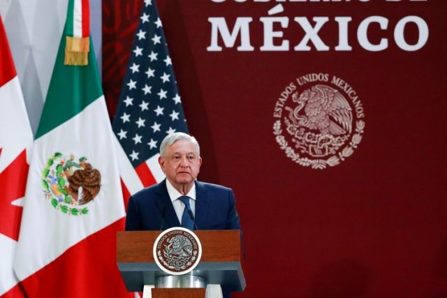 FILE PHOTO: Mexico's President Andres Manuel Lopez Obrador attends a meeting at the Presidential Palace, in Mexico City, Mexico December 10, 2019. REUTERS/Henry Romero/File Photo