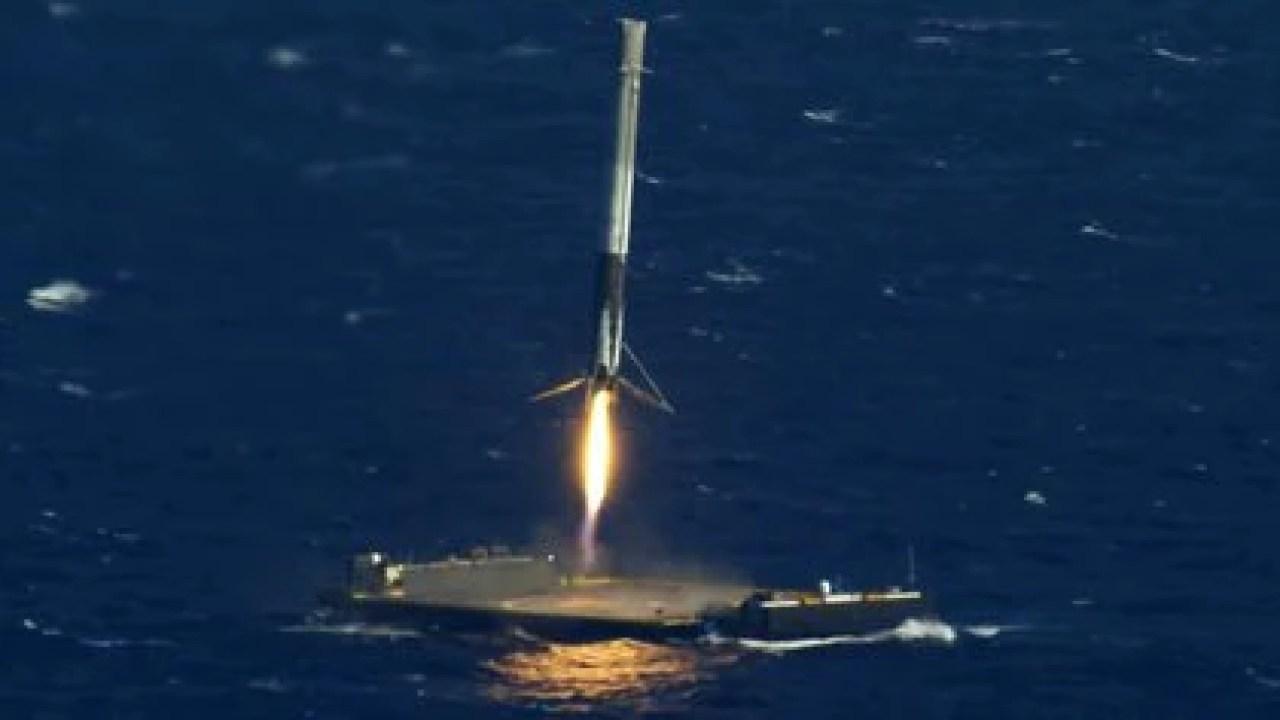 El regreso de un Cohete Falcon 9