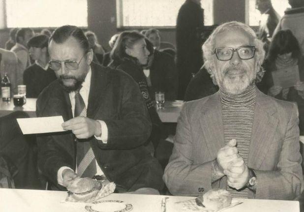 Di Benedetto con Günter Lorenz(Gentileza ciudaddemendoza.gob.ar)