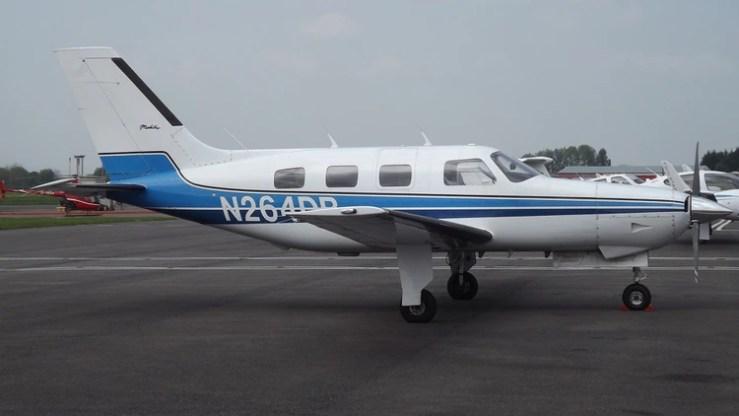 El avión Piper Malibu que trasladaba a Sala (Foto: James from Cheltenham)