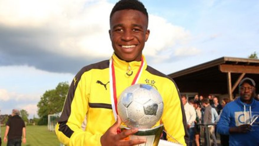Youssoufa Moukoko was 12 when he came to Borussia Dortmund and started playing for the U-15.