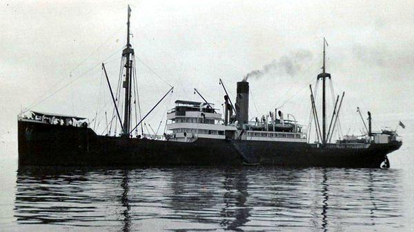 El SS Porta, buque idéntico al SS Minden hundido en las costas de Islandia en 1939
