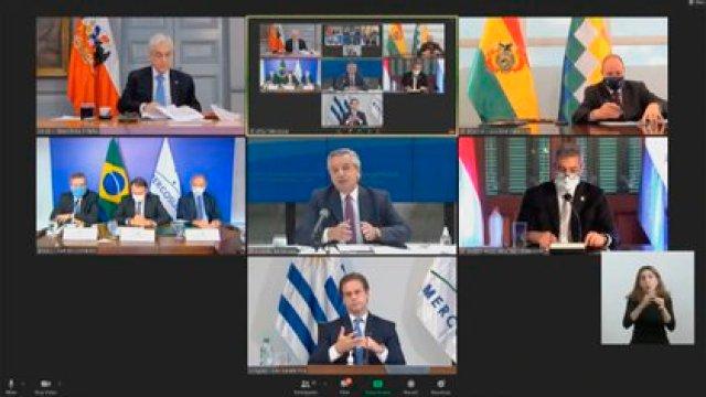 El Presidente mantuvo una reunión por videoconferencia con su pares que integran el Mercosur