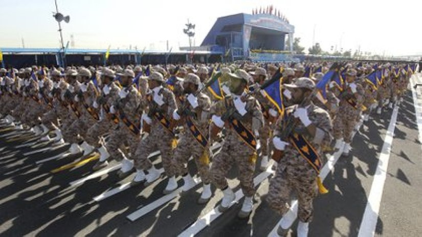 The annual parade of the Iranian Revolutionary Guard (AFP)