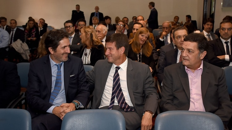 Los jueces federales Sebastián Casanello, Julián Ercolini y Luis Rodríguez