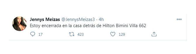 Jenny Meizas, mujer venezolana secuestrada en Bahamas.