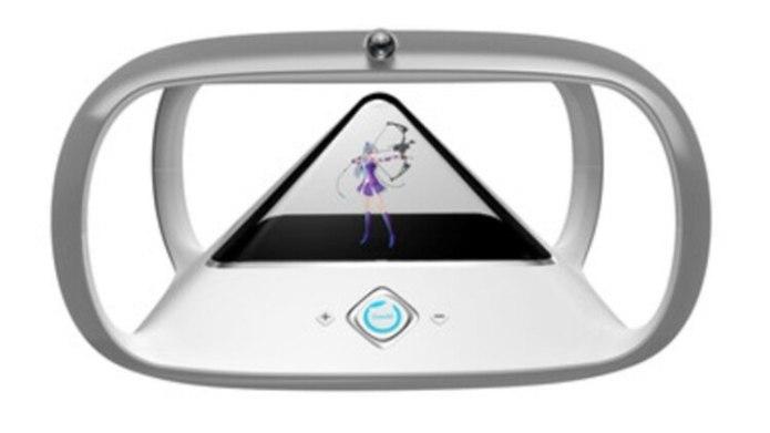 Gowild Holoera es una pirámide brillante que habla con el usuario, responde preguntas y toca música.