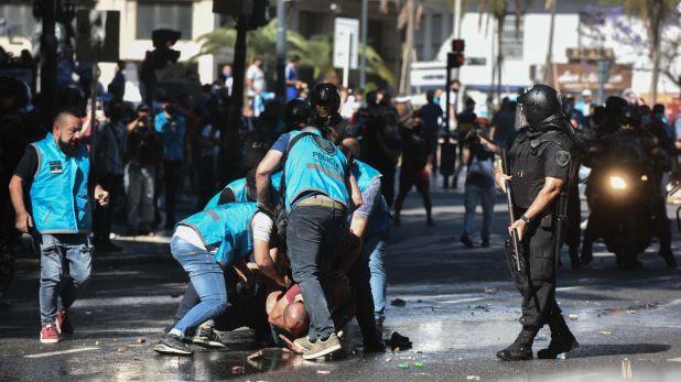 muerte maradona incidentes represion