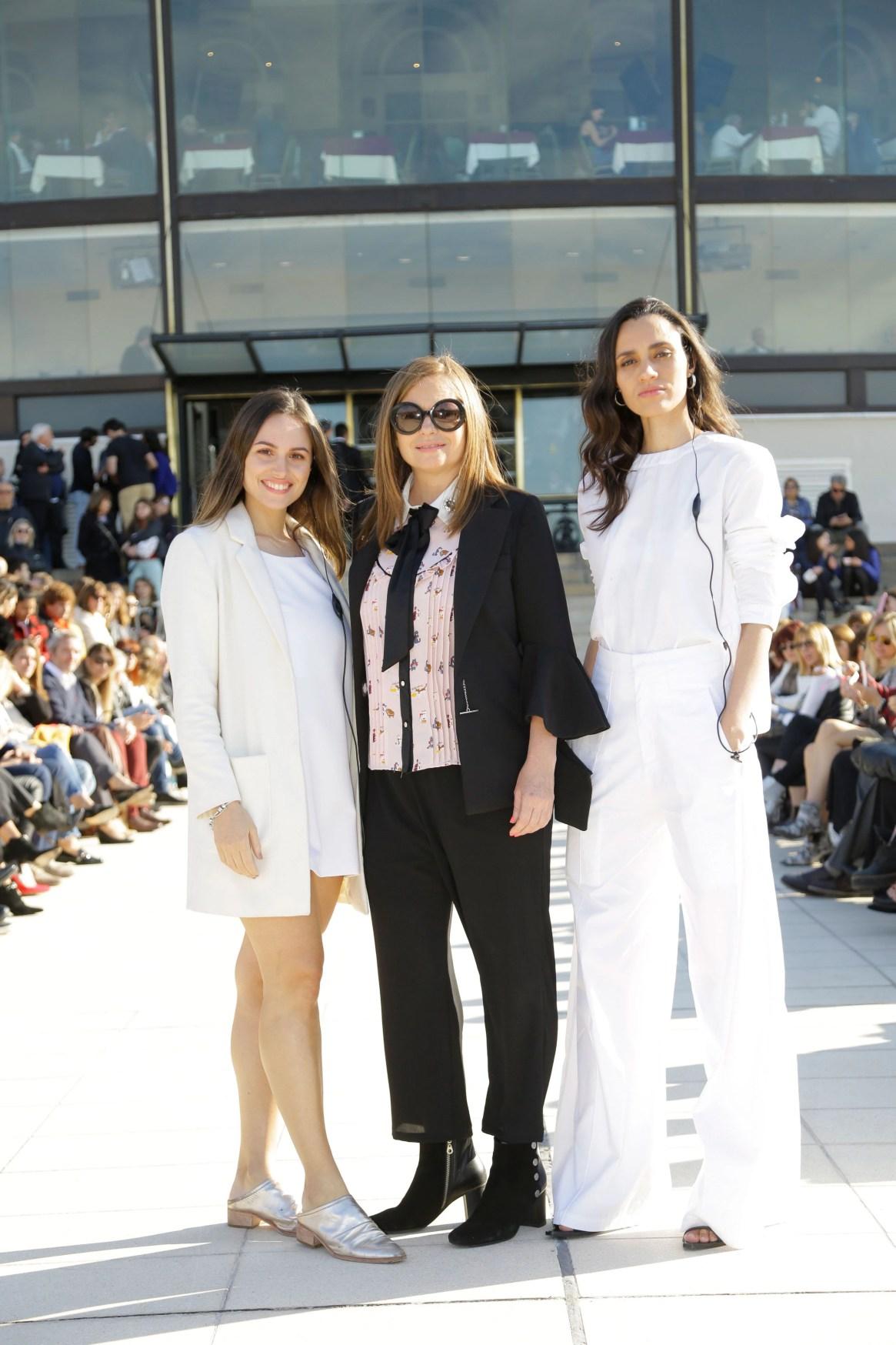 Antonella Bárbaro, Gabriela Vidal, productora general del evento, y Natalí Franco