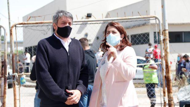 Intendenta de Moreno Mariel Fernandez con Maximo Kirchner