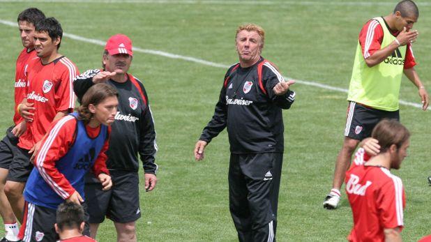 Oberman en River con Mostaza Merlo como entrenador (Foto Baires)