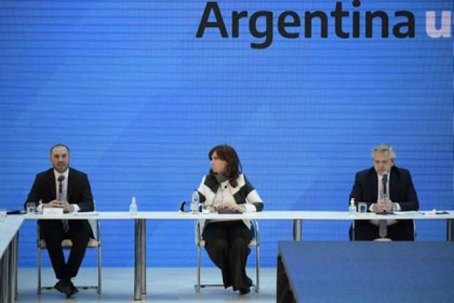 Cornejo criticó a Martín Guzmán, Cristina Kirchner y Alberto Fernández. (Foto REUTERS)