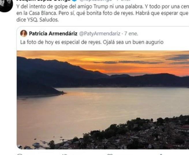 López-Dóriga criticó una publicación de la actuaria (Foto: Twitter @lopezdoriga)
