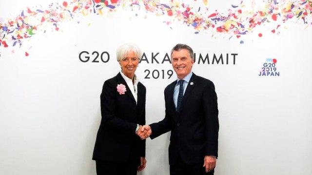 Macri y Lagarde, la ultima vez que se vieron en el G20 de Japón