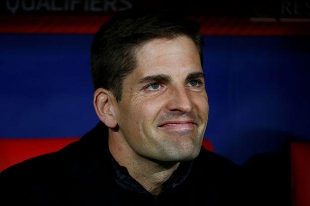 Robert Moreno ocupó el cargo, tras la ausencia de Luis Enrique en España (Reuters/ Javier Barbancho)