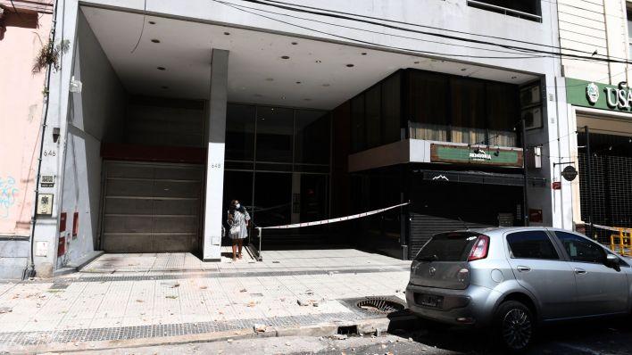 derrumbe Callao 648 edificio balvanera