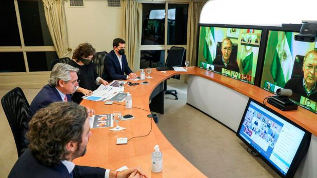 Alberto Fernandez videoconferencia con gobernadores
