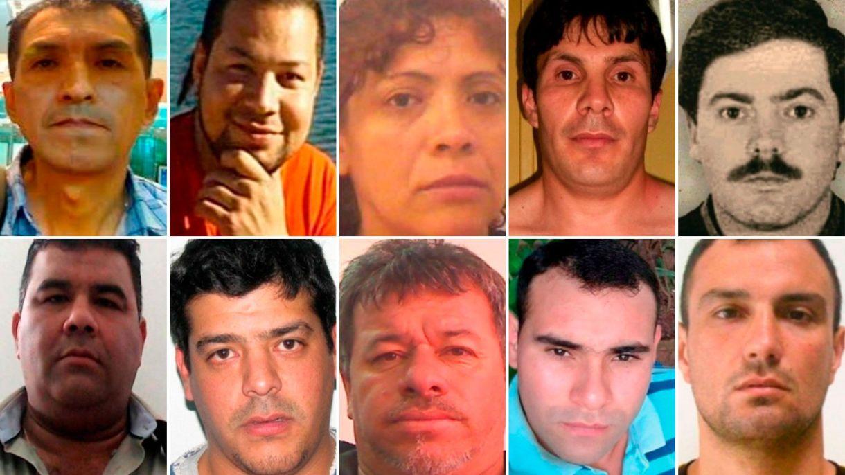 Los rostros de los 10 prófugos más buscados del país