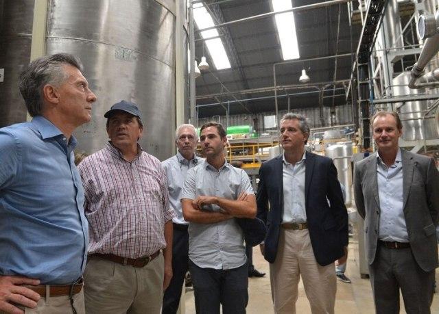 Macri y el gobernador Bordet: tienen buena relación personal, al margen de las diferencias políticas sobre el plan de ajuste