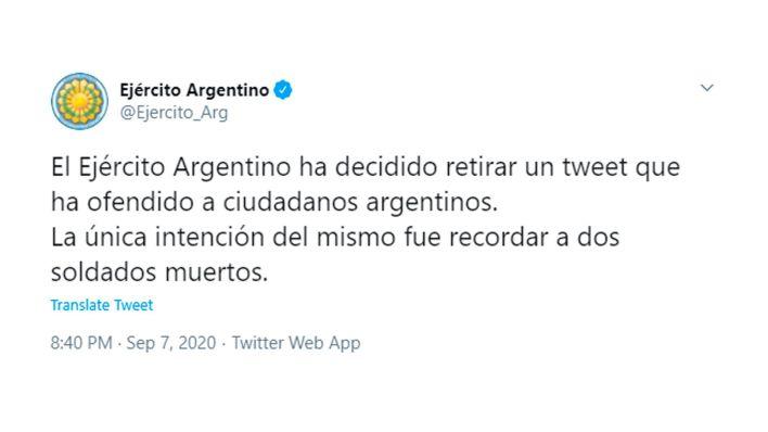 ejercito argentino twitter combate de potrero negro