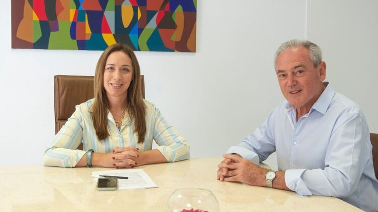 María Eugenia Vidal con Atilio Benedetti esta semana (@atiliobenedetti)