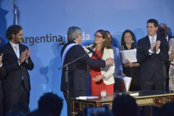La ministra Gómez Alcorta inauguró el ministerio de Mujeres, géneros y diversidad que dio jerarquía institucional al tema (Gustavo Gavotti)