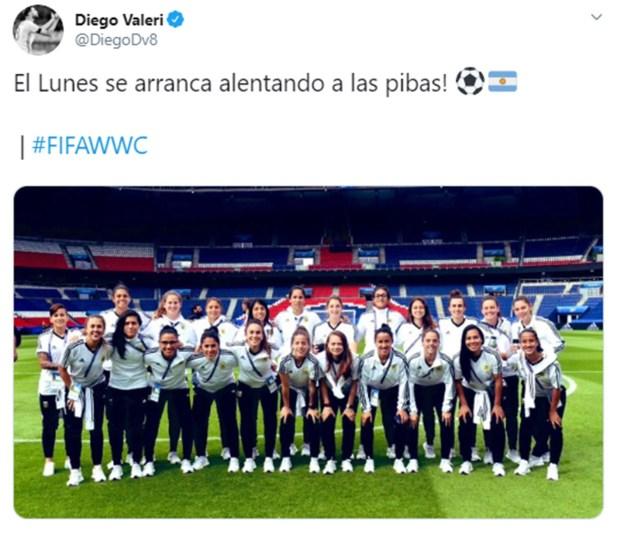 Diego Valeri alentó a la selección argentina durante el Mundial de Francia