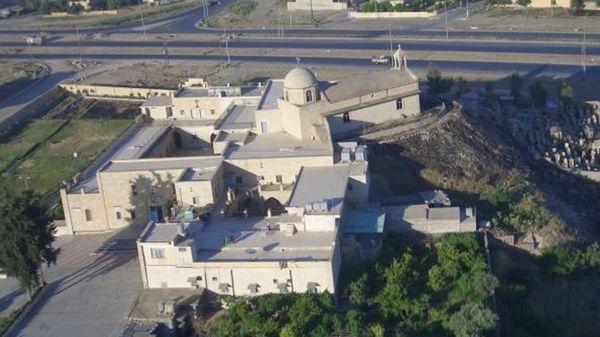 El monasterio de San Markourkas (San Jorge) en Irak, antes de su destrucción