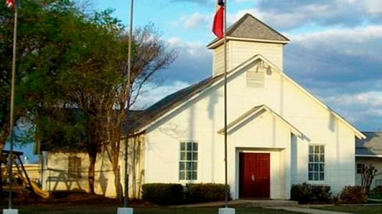 La Primer Iglesia Bautista de Sutherland Springs donde ocurrió la masacre