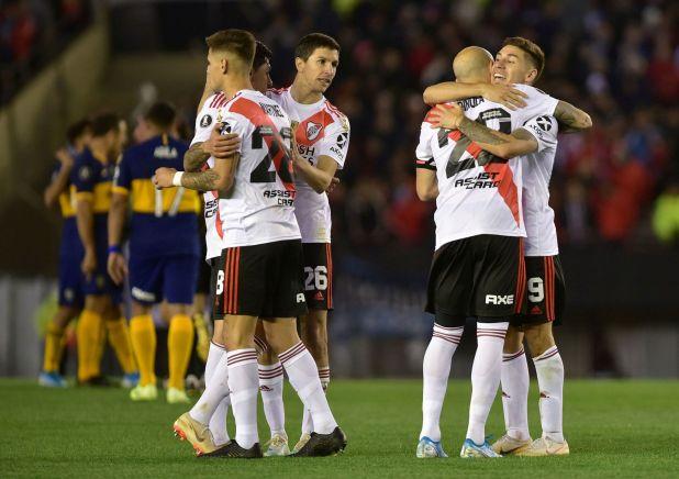 River se quedó con el primer partido de la serie ante Boca (REUTERS/Pablo Stefanec)