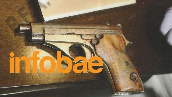 El arma que Lagomarsino le acercó al fiscal Nisman