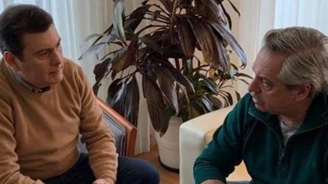 El sábado Alberto Fernández recibió en su departamento a Gerardo Zamora (@alferdez)