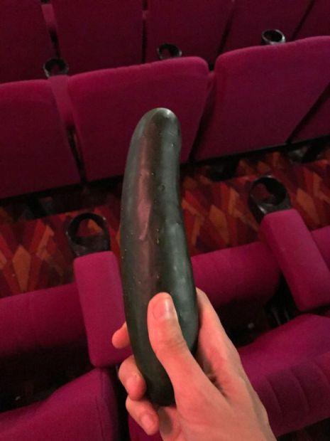 El pepino encontrado en el Hayden Orpheum Cinema de Sydney
