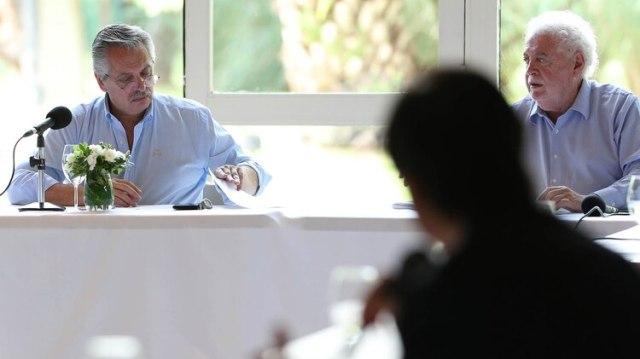 El presidente Alberto Fernández y el ministro de Salud, Ginés González García