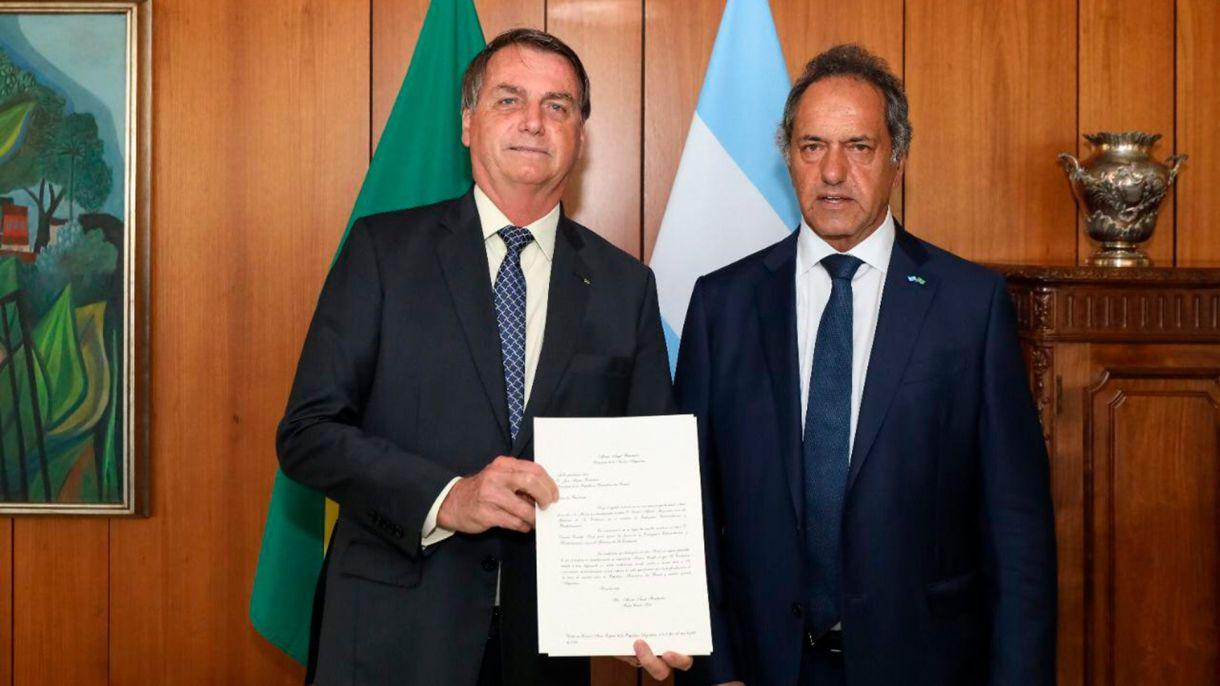 Daniel Scioli con Jair Bolsonaro